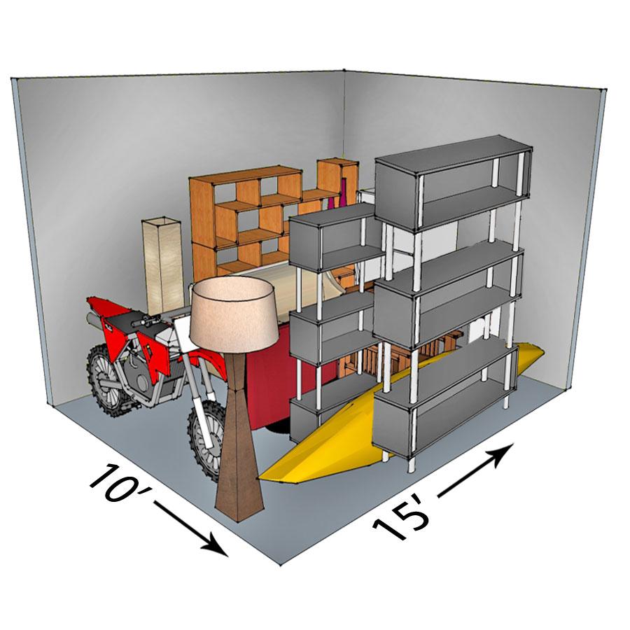 10x15 self-storage unit