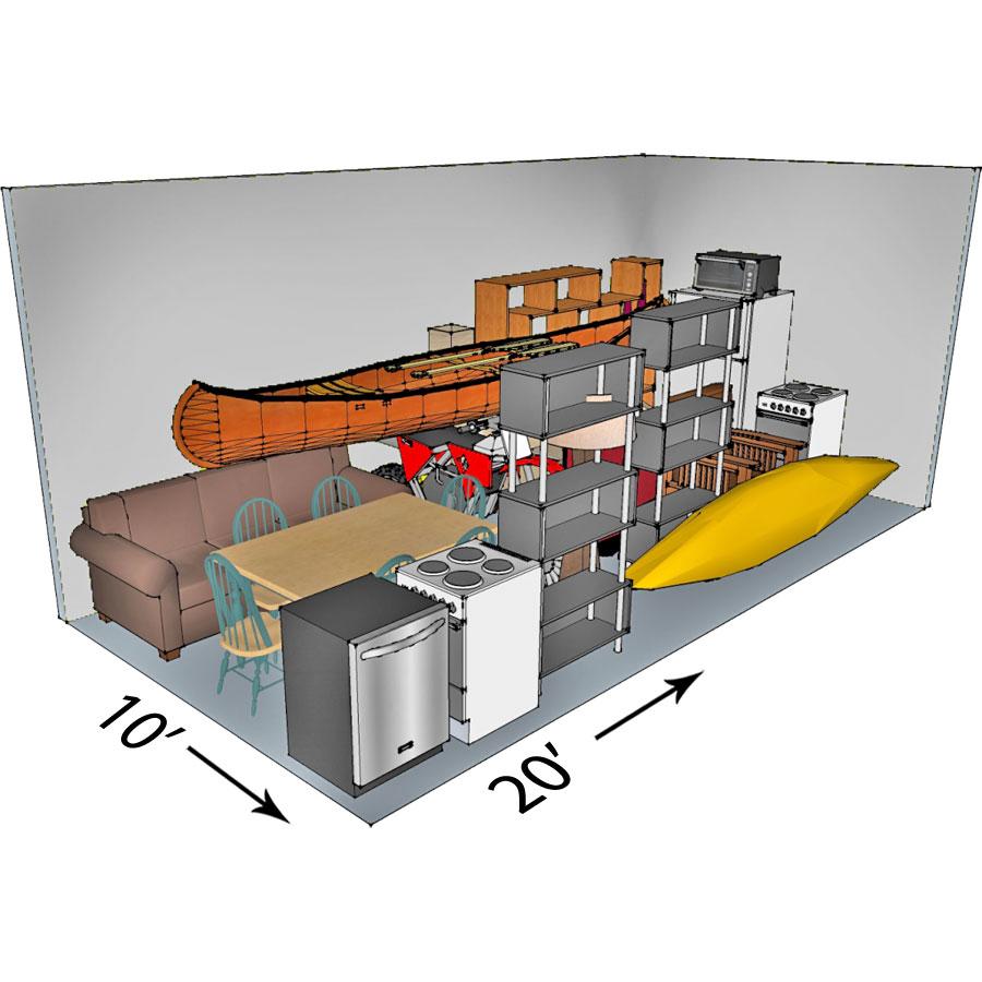 10x20 self-storage unit