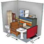 5x10 self-storage unit sizes