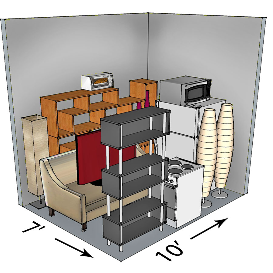 7x10 self-storage unit