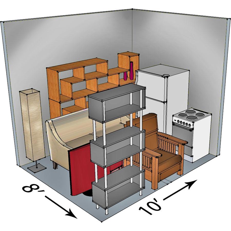 8x10 self-storage unit