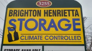 Brighton Henrietta Storage street sign