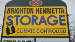 Brighton Henrietta Storage street sign