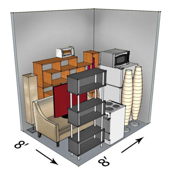 8x8 self-storage unit